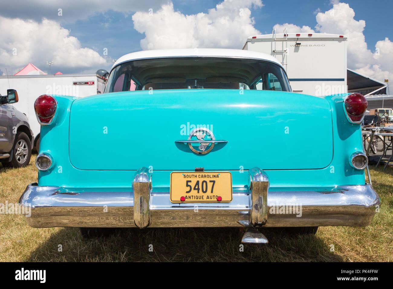 CONCORD, NC (USA) - September 7, 2018: A 1954 Oldsmobile