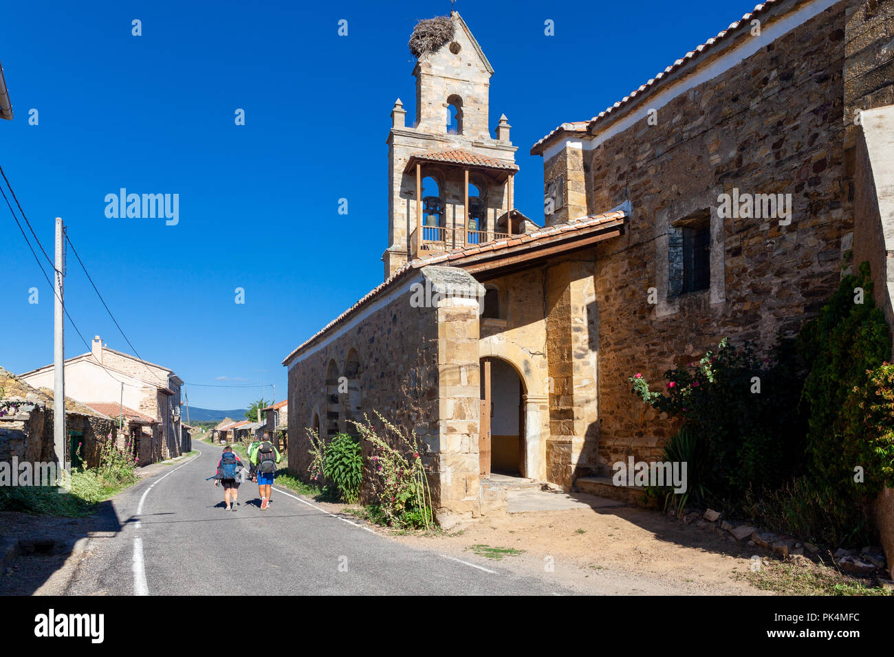 Walking on the route of El Ganso, Parroquia Benedito Cristo - Stock Image