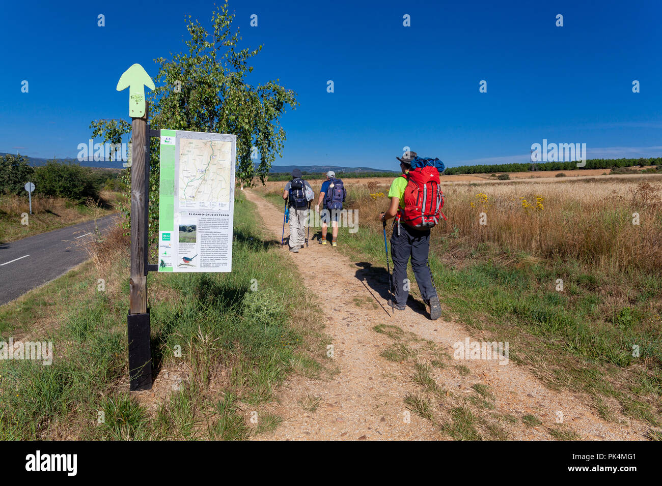 Walking on the route of El Ganso - Stock Image