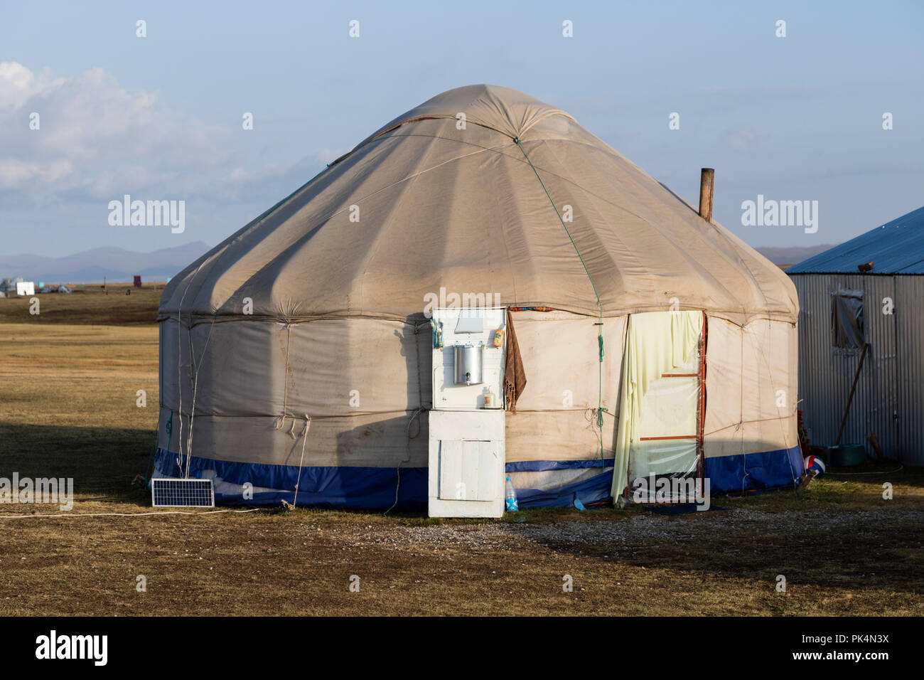 Steppe Traditional Tent Yurt Stock Photos & Steppe