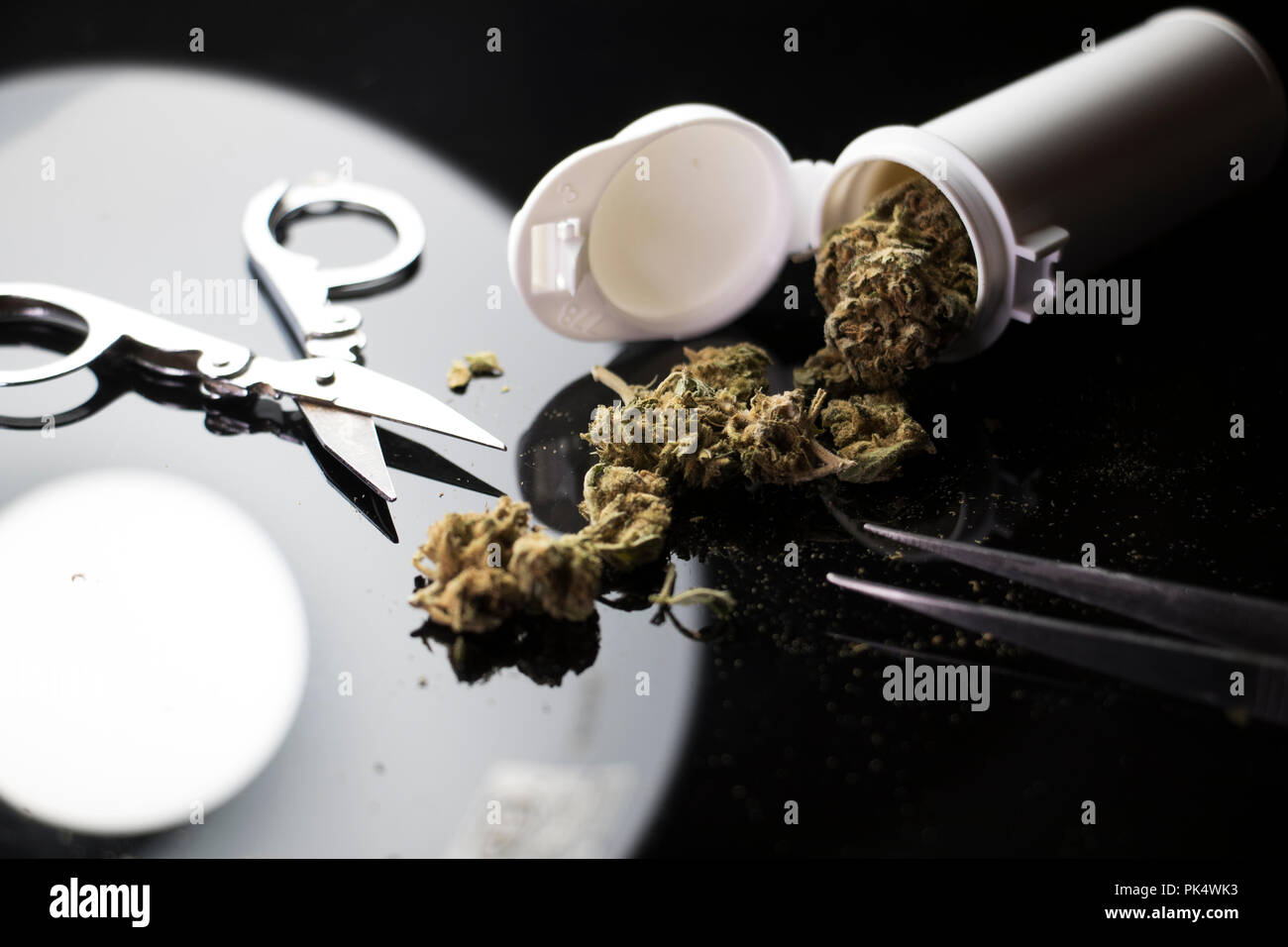 Mary Jane. Medical weed. Legalized Cannabis. - Stock Image