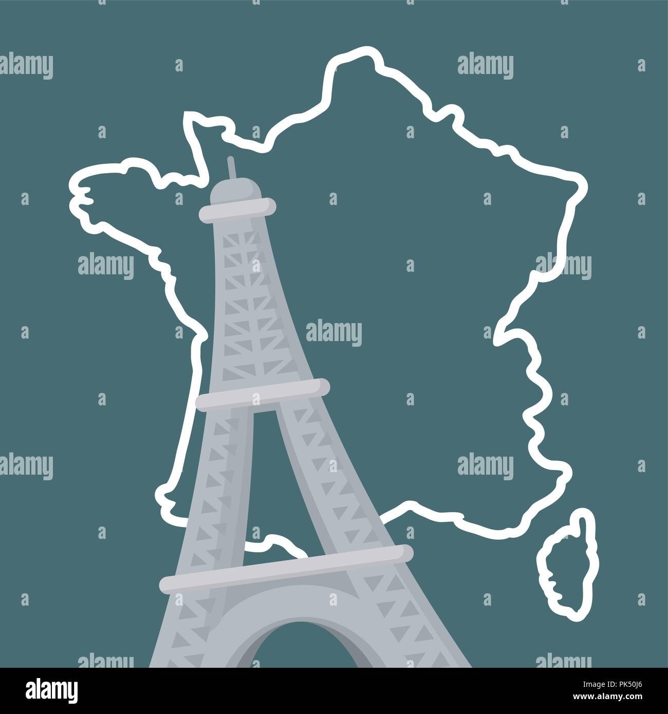 france culture card with eiffel tower vector illustration design Stock Vector