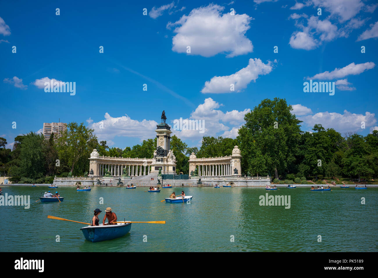 El Parque del Buen Retiro, Madrid, Spain. - Stock Image
