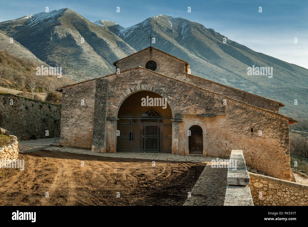 church of Santa Maria in Porclaneta Valley. Abruzzo - Stock Image