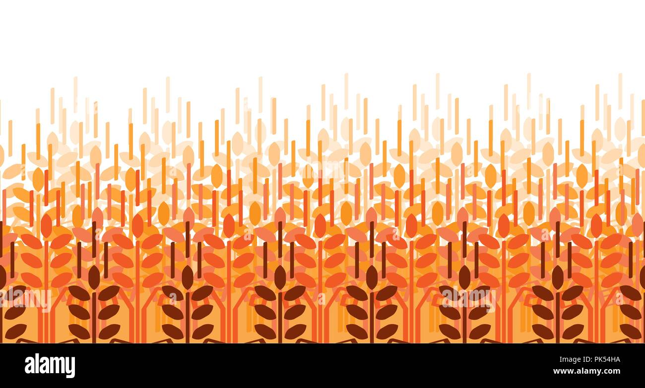 Wheat ears seamless pattern. Vector agriculture background. Wheat field - Stock Vector