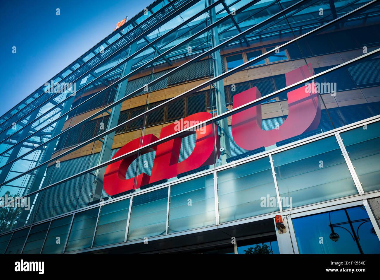 Berlin, Germany, 21st August 2018, Konrad-Adenauer-Haus - headquarters of the CDU - Stock Image