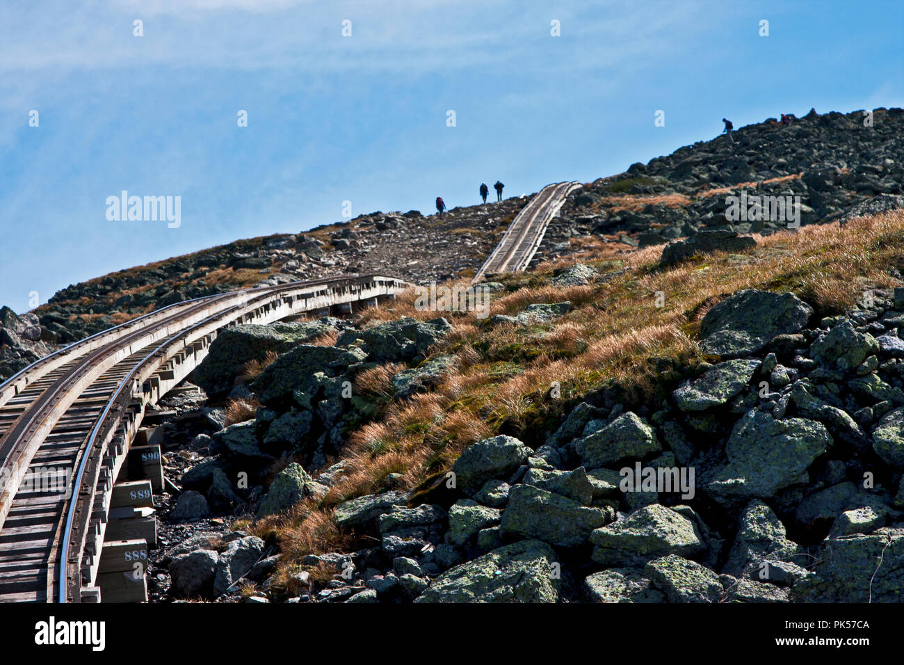 New Hampshire, Mount Washington Cog Railway, Bretton Woods, White Mountain National Forest, Mount Washington, Stock Photo
