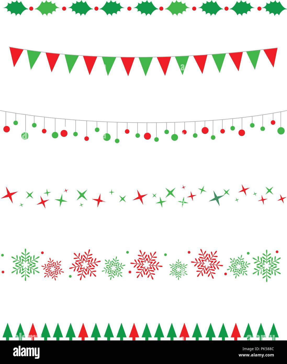 christmas line border