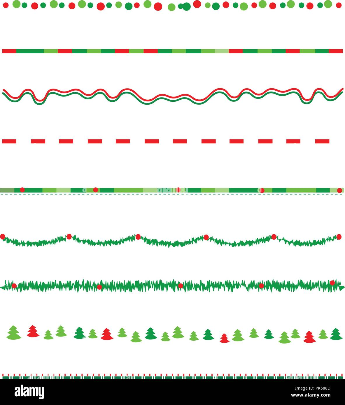 collection on christmas borders divider graphics including holly