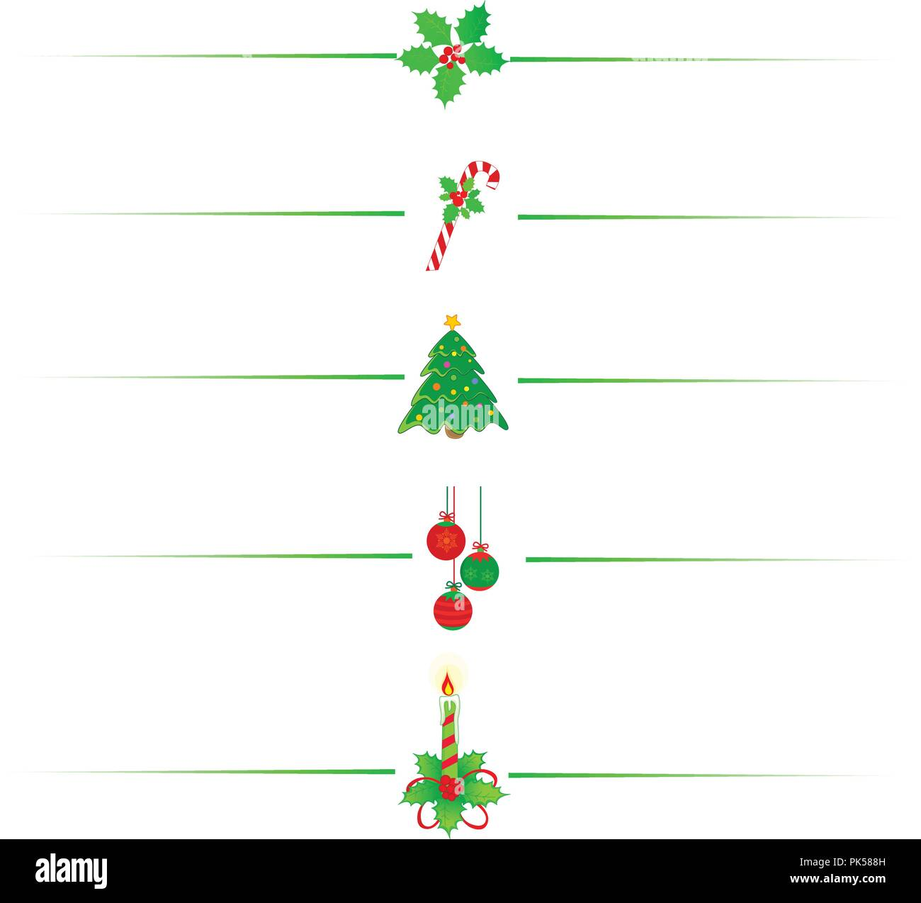 Clean Holly Leaves And Berries, Candy Cane Christmas Tree