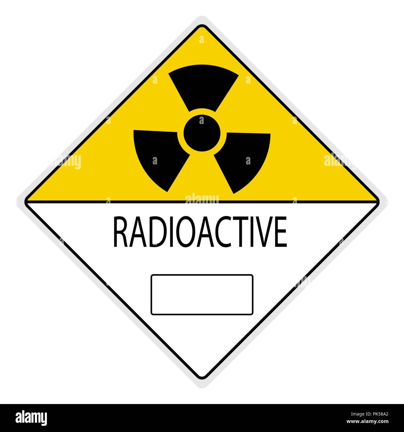warning signs; Radiation Hazard - Stock Vector