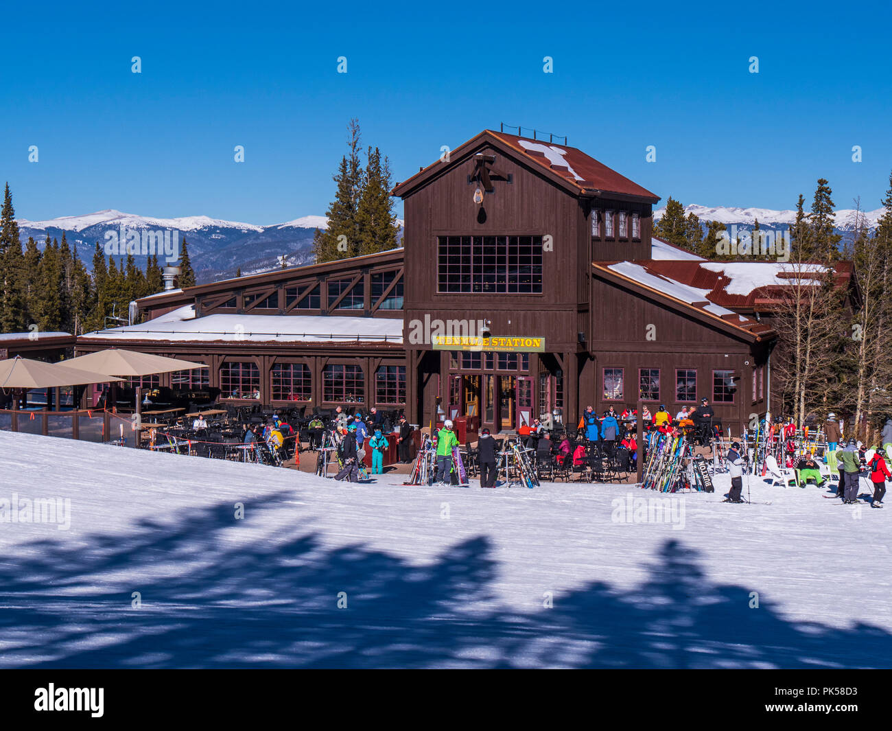 Tenmile Station Day Lodge And Restaurant At The Base Of Peak