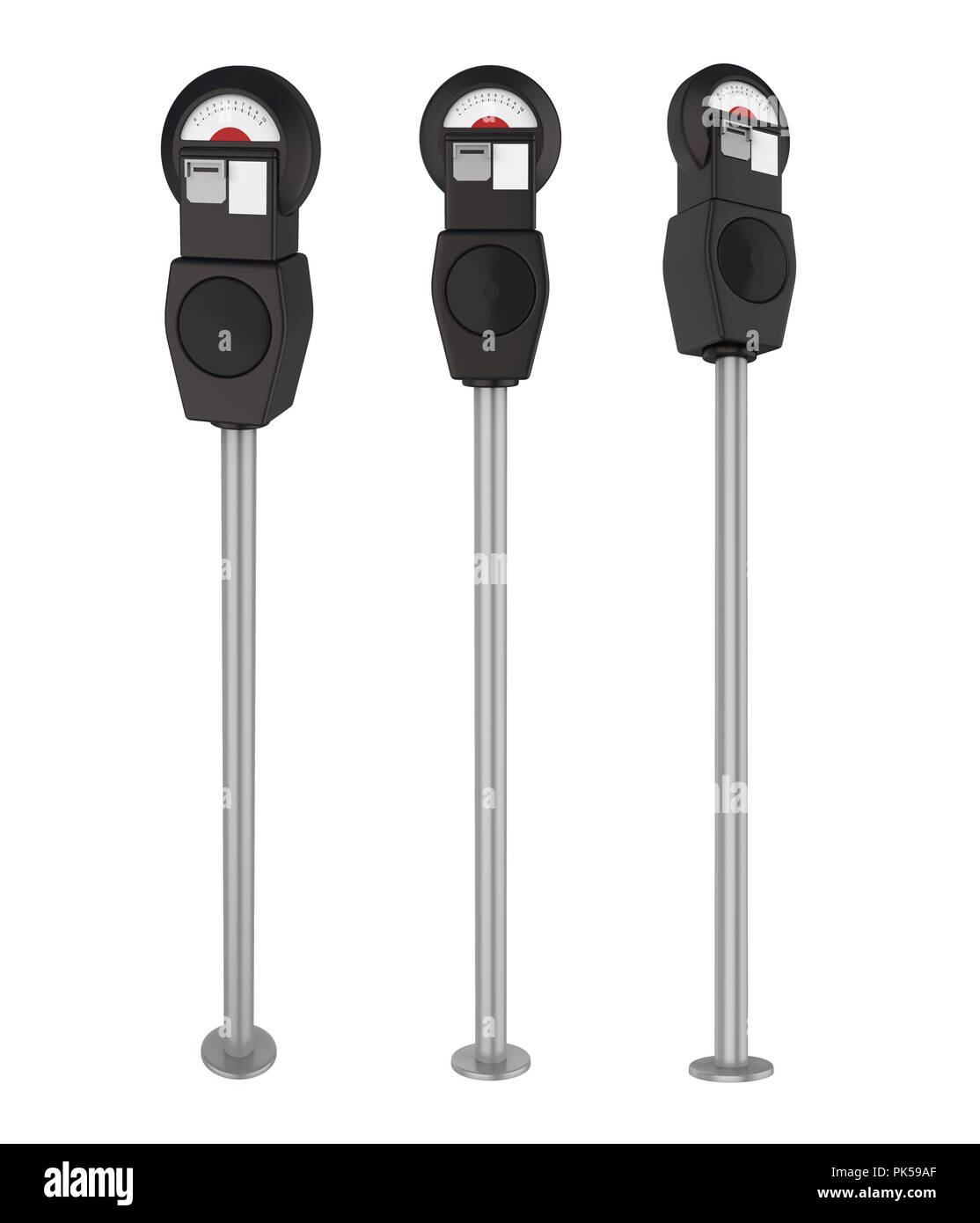 Parking Meter Isolated - Stock Image