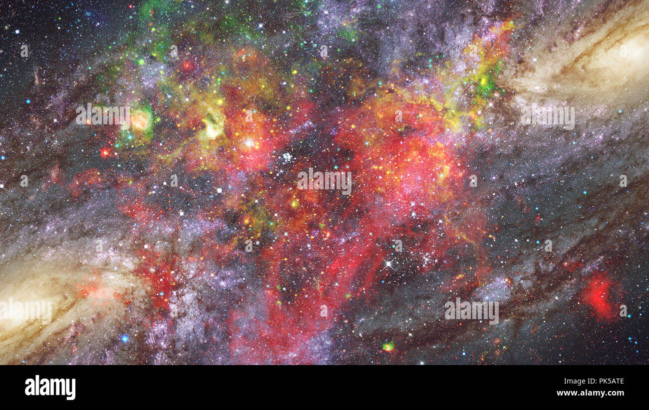 Landscape of star clusters in space. Elements of this image furnished by NASA. - Stock Image