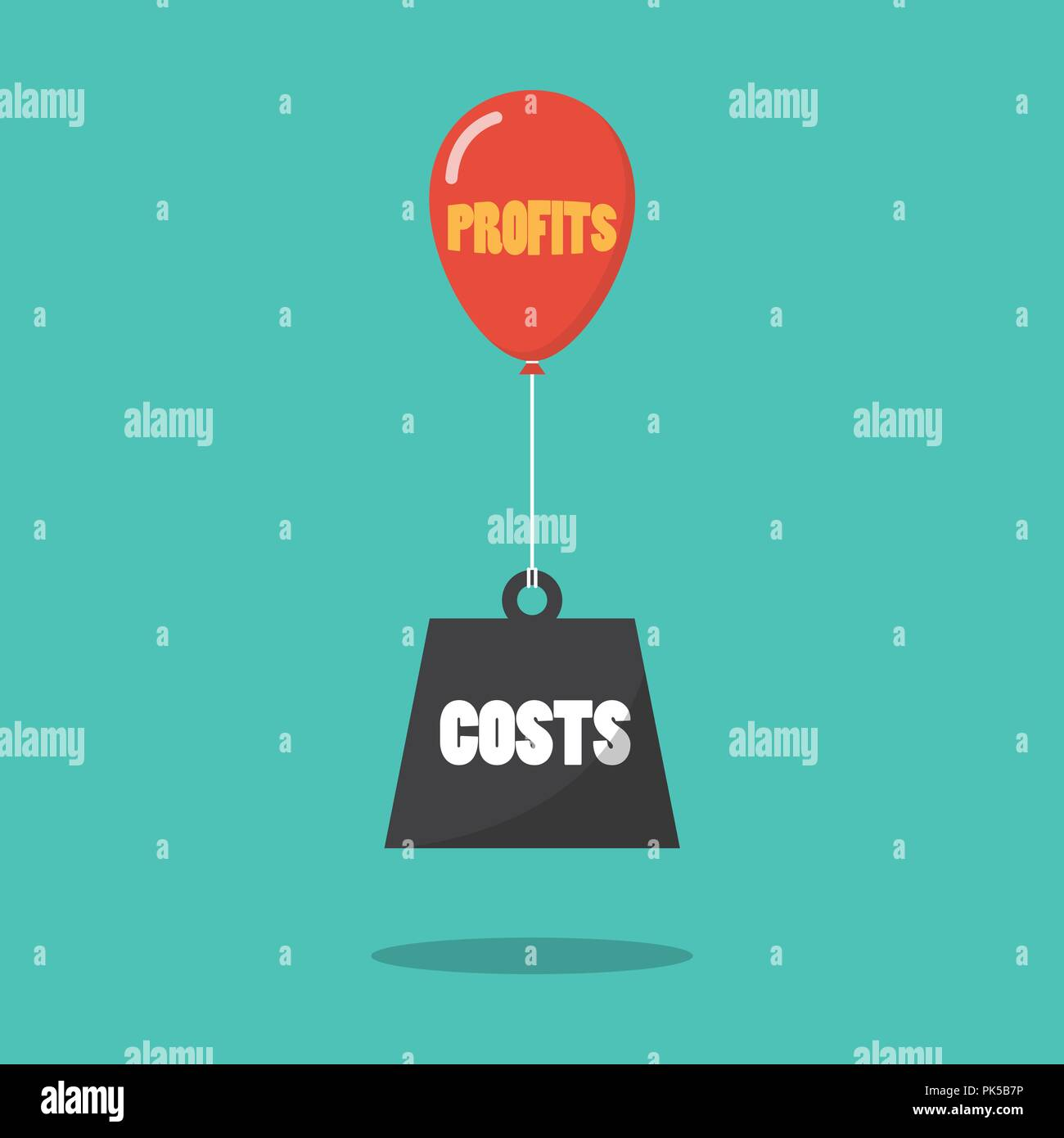 Profits and costs concept. Business concept vector illustration - Stock Vector