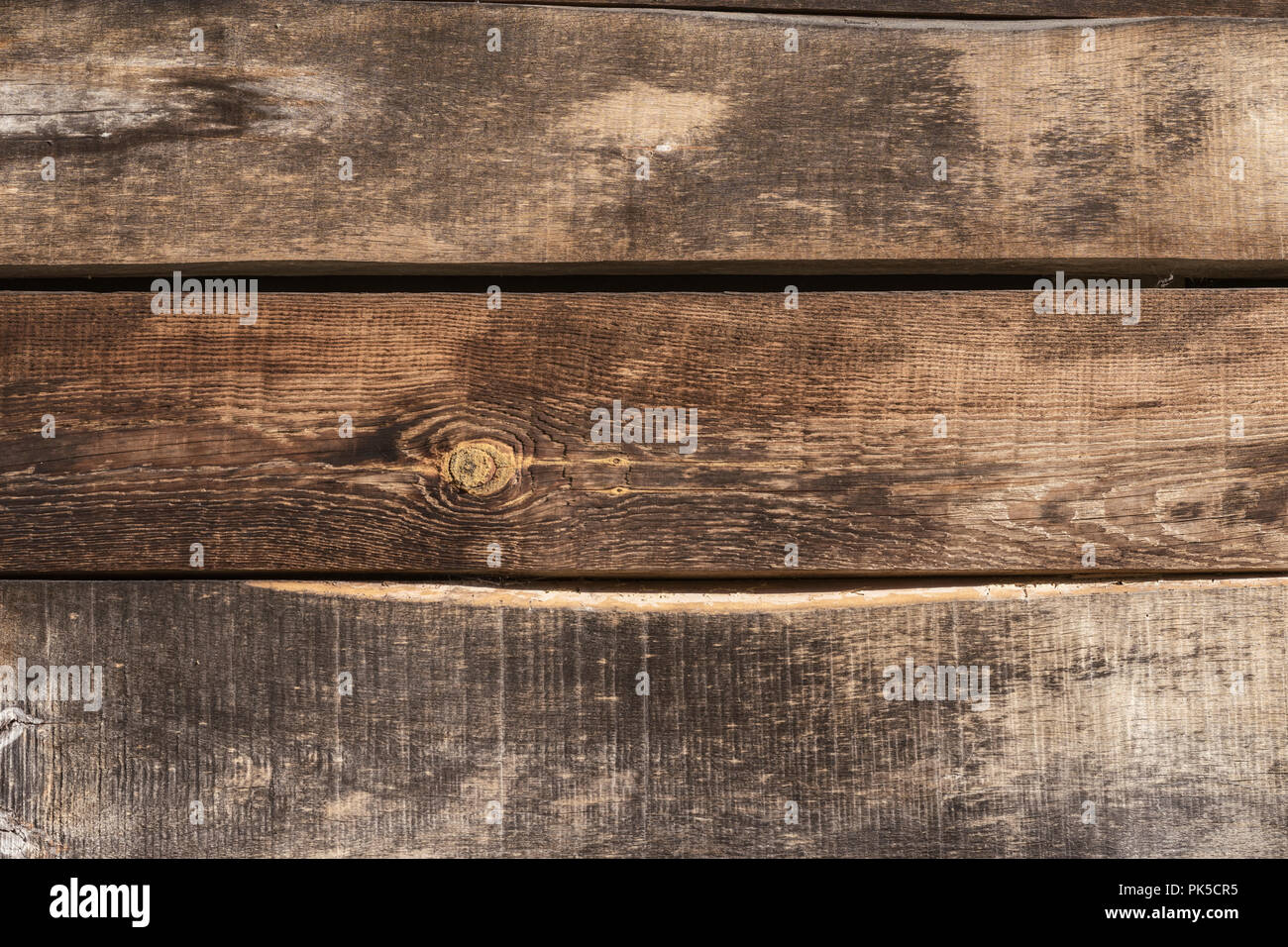 Vintage wooden horizontal wood planks with cracks, scratches