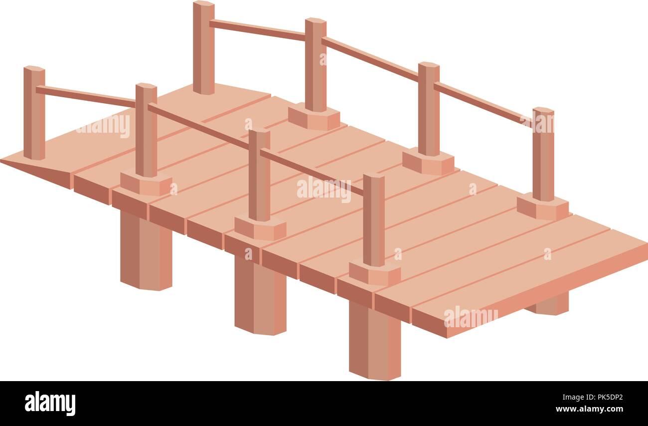 isolated and isometric bridge design - Stock Image