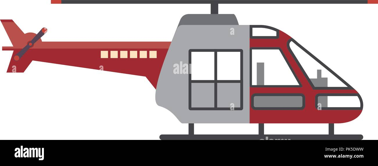 Isolated helicopter transportation design - Stock Vector