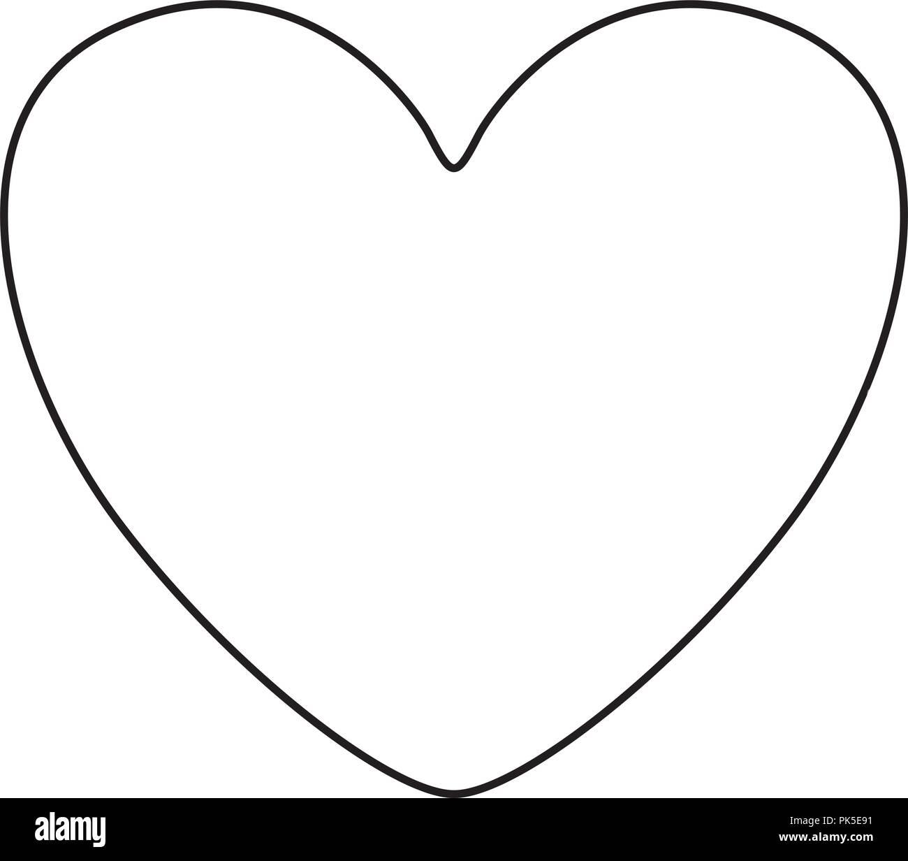 Isolated heart shape design - Stock Image