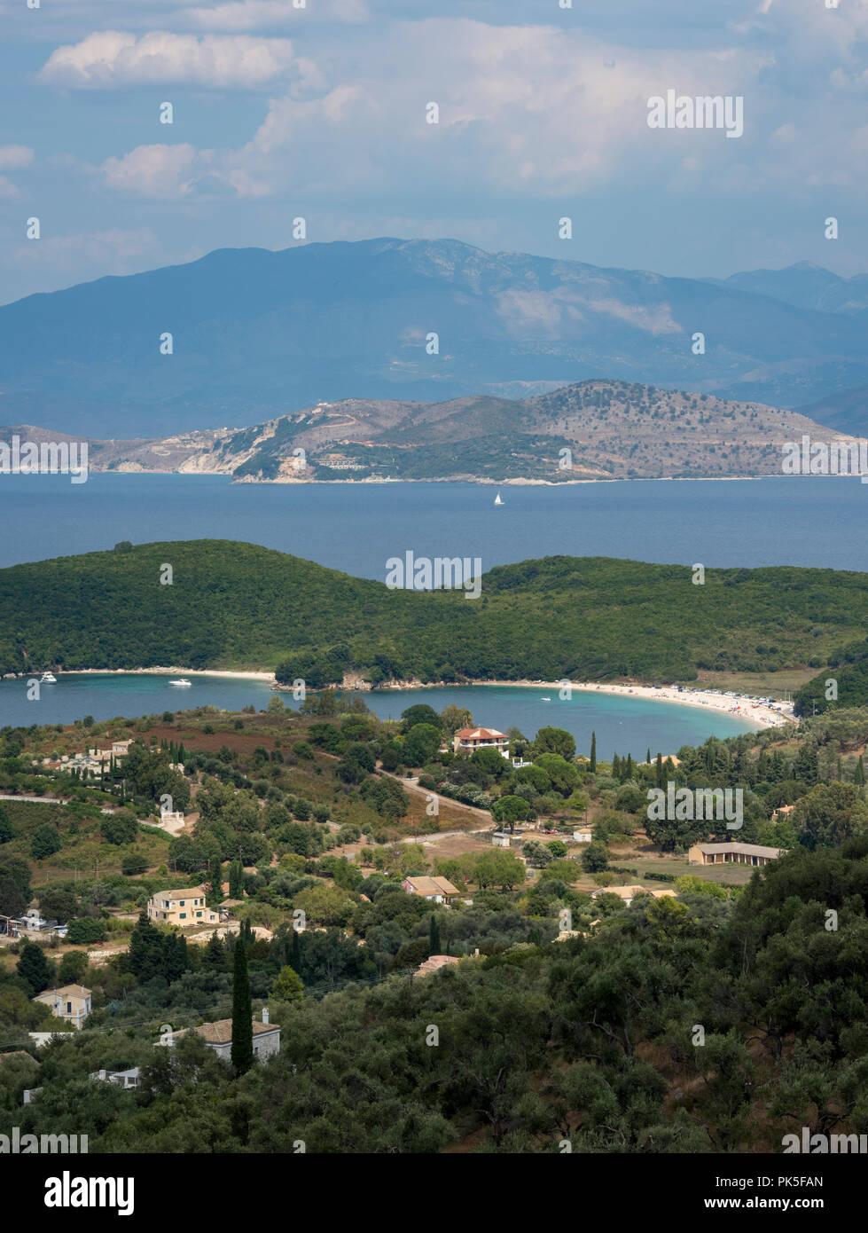 kassiopi bay, corfu, Greece. - Stock Image