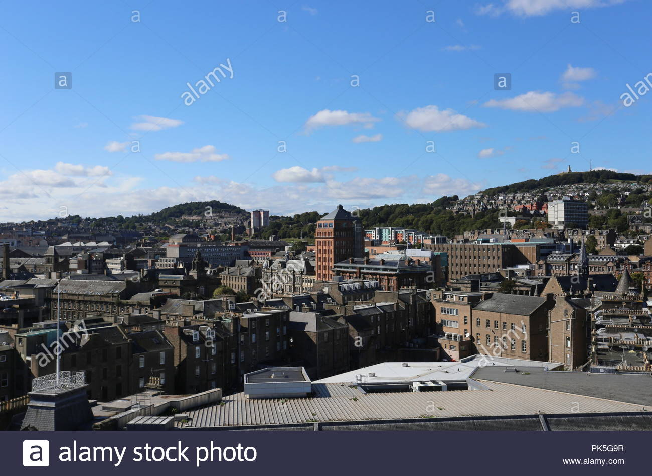 Exterior of DC Thomson headquarters Meadowside and Dundee Law Scotland  September 2018 - Stock Image