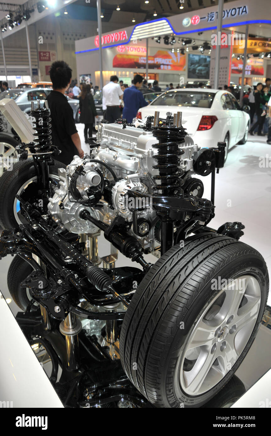 Engines on the exposition in Chengdu.China ,Sep 25, 2011. - Stock Image