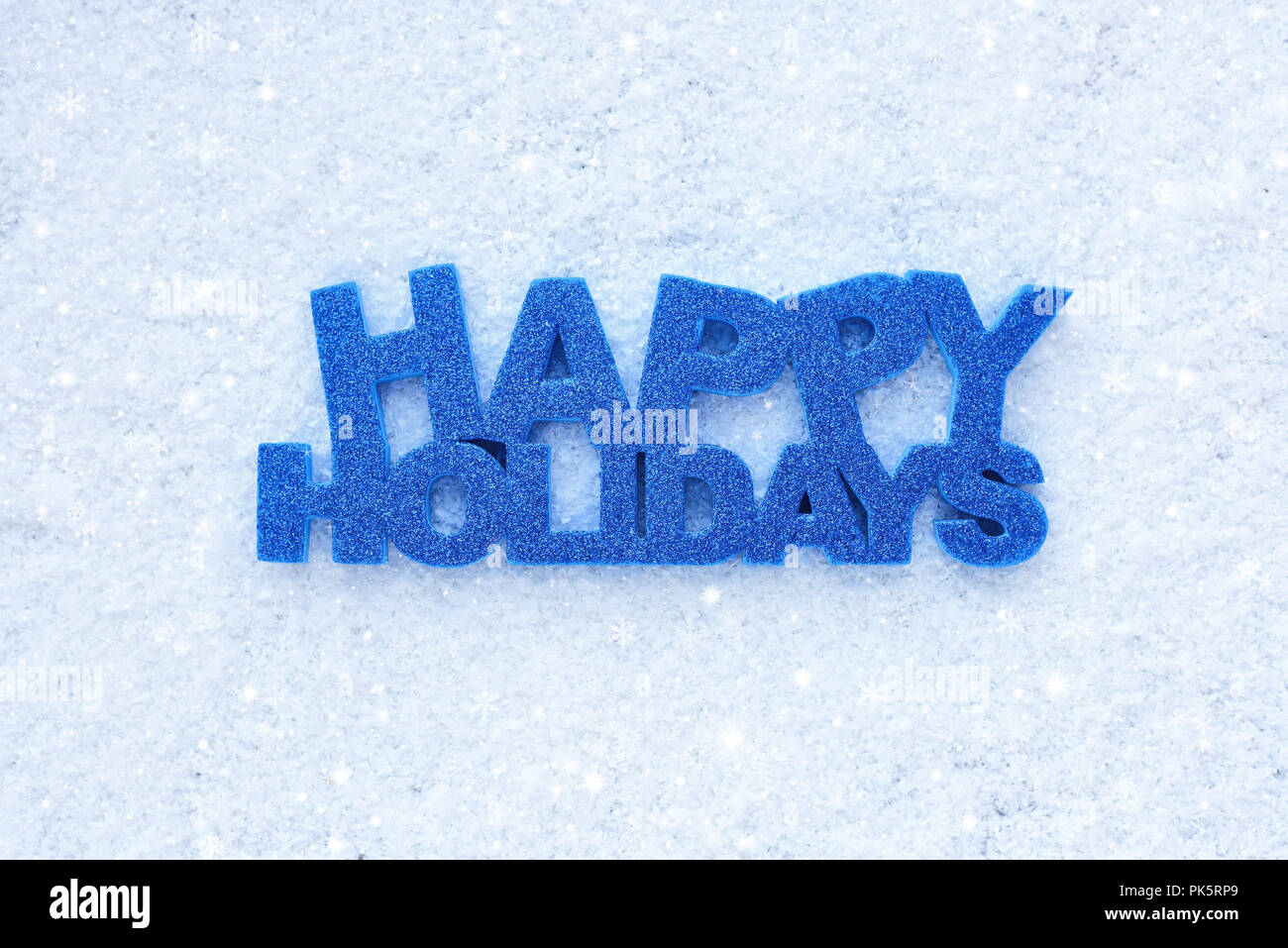 Greeting Happy Holidays Is On Snow Stock Photo 218331297 Alamy