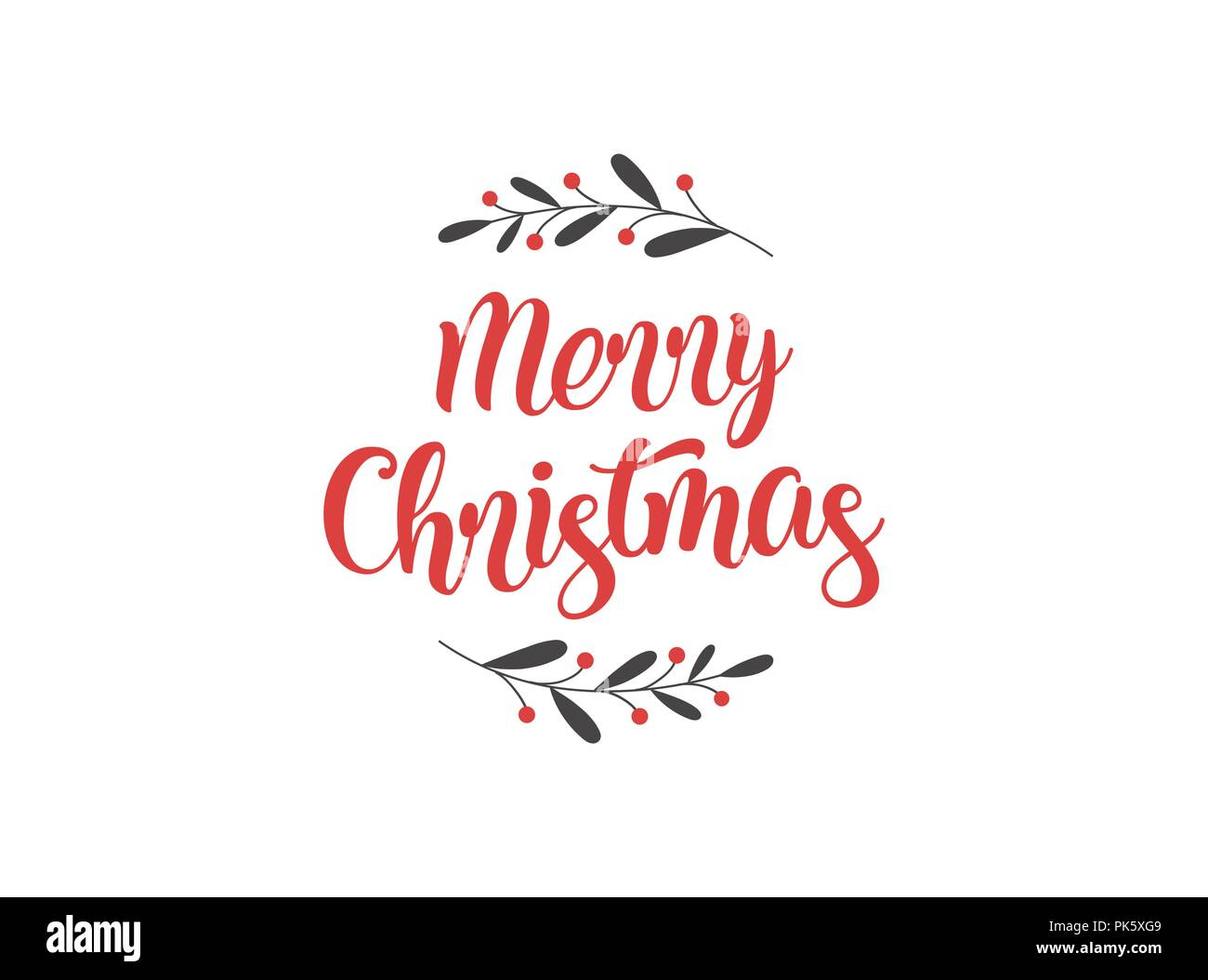 Merry Christmas Background with Typography, Lettering. Greeting card, banner and poster - Stock Image