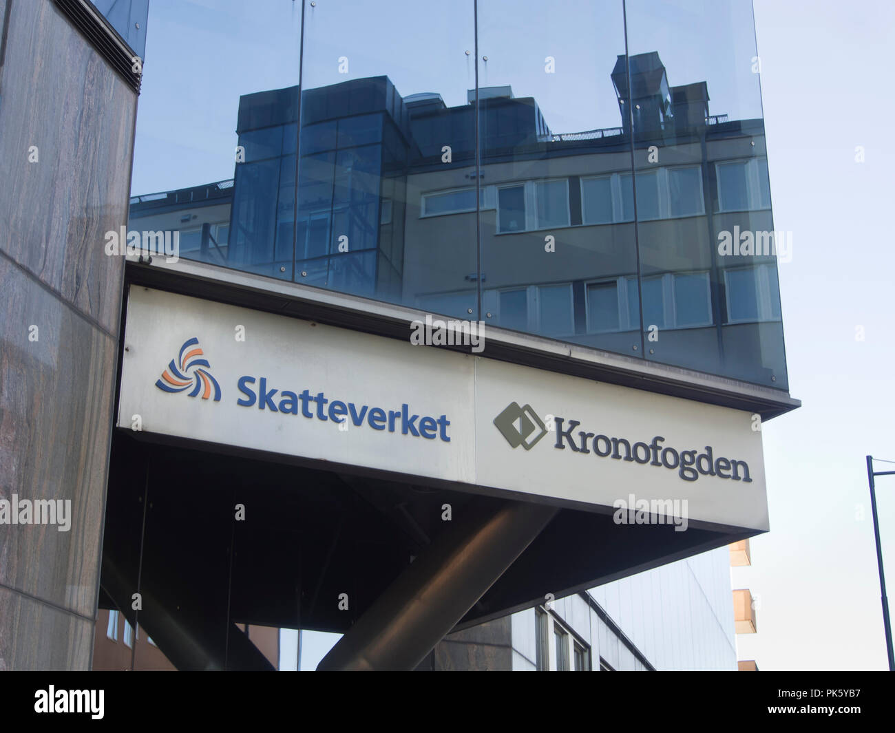 Taxation authority and tax collectors offices in Karlstad Värmland Sweden - Stock Image