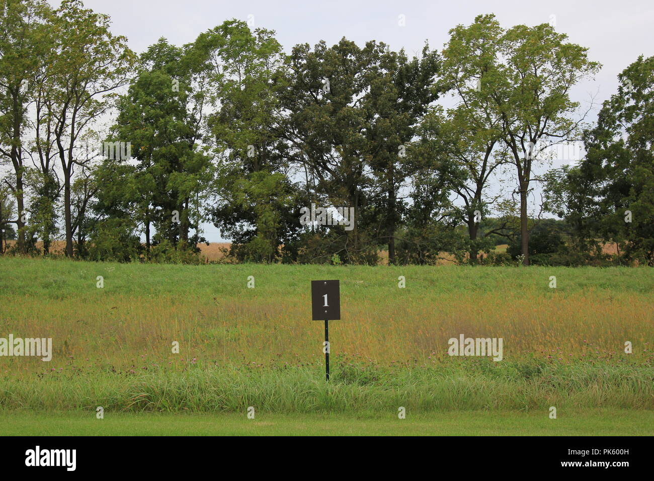 Undeveloped Lot number 1 in a residential development in rural Marengo, Illinois, McHenry County. - Stock Image