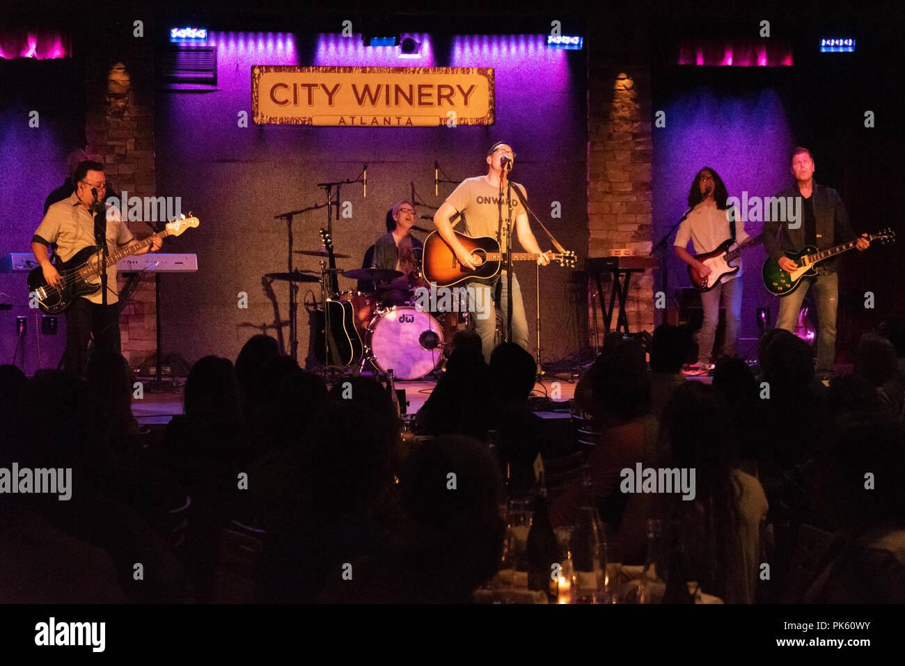 Smalltown Poets performing live at City Winery in Atlanta, GA. (USA) - Stock Image