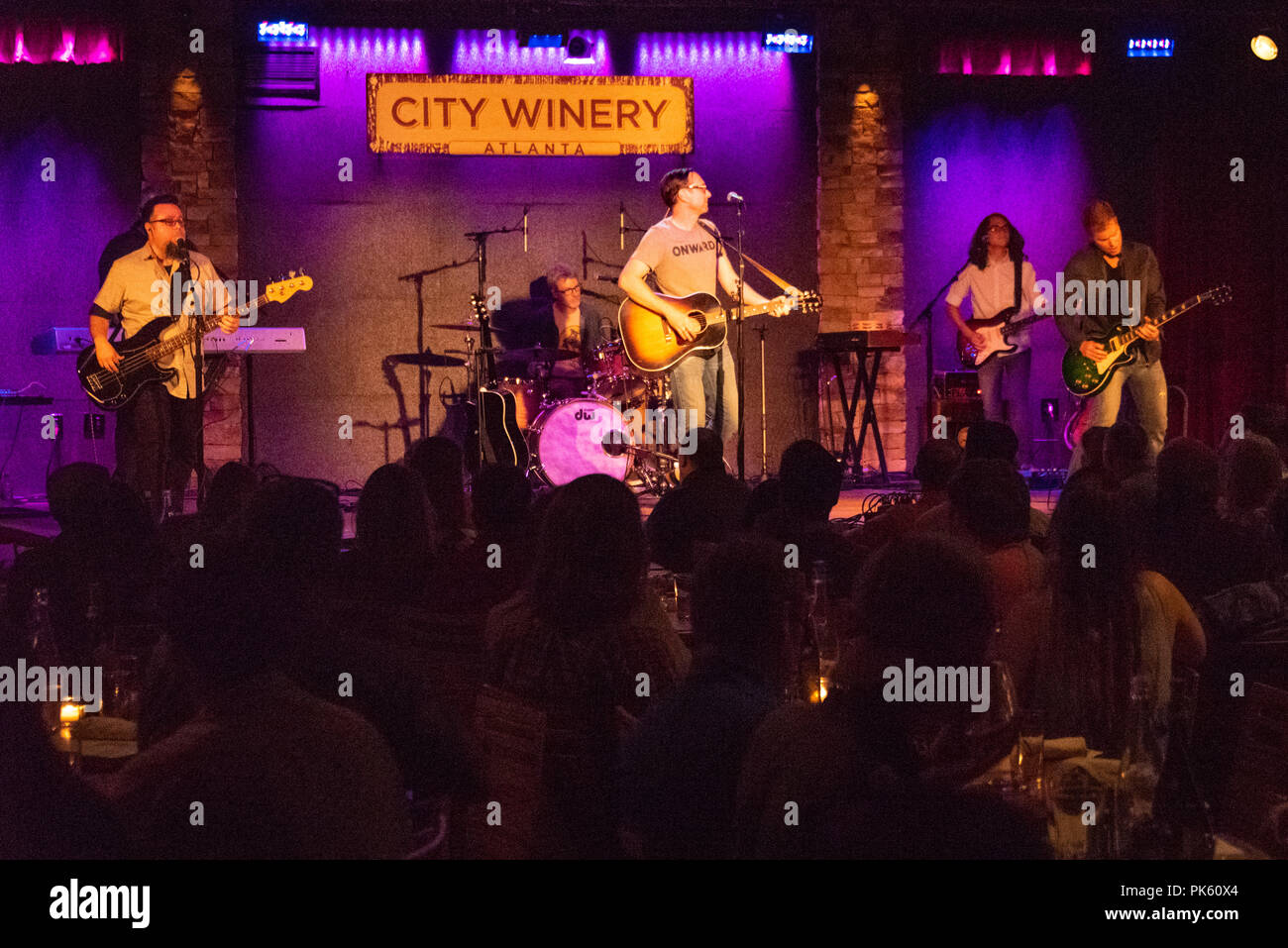 Smalltown Poets performing live at City Winery in Atlanta, Georgia. (USA) - Stock Image