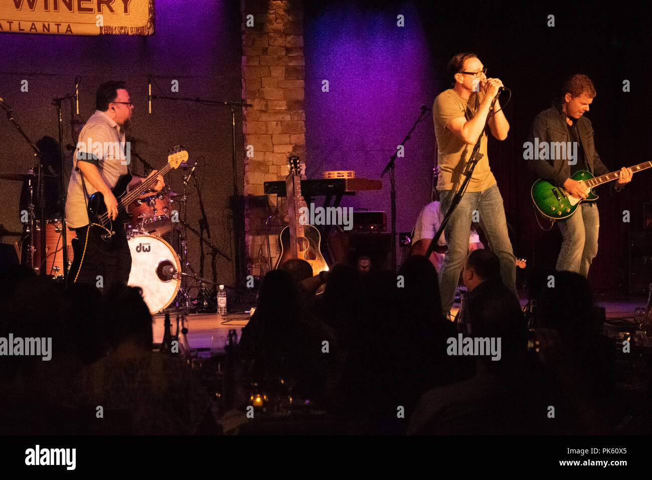 Smalltown Poets in concert at the City Winery in Atlanta, Georgia. (USA) - Stock Image