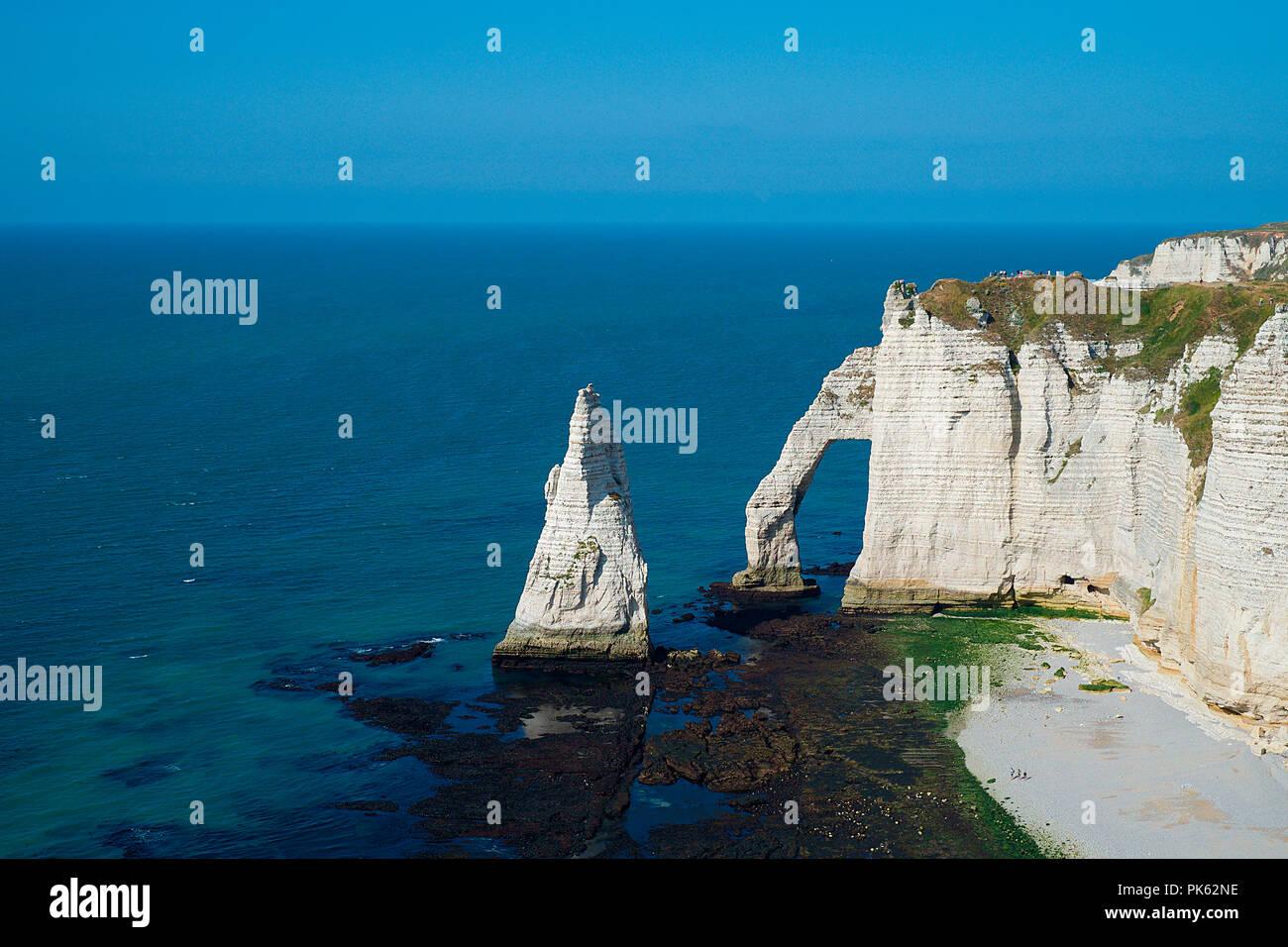 Etretat Falaise D Aval Normandie Frankreich France Stock Photo Alamy