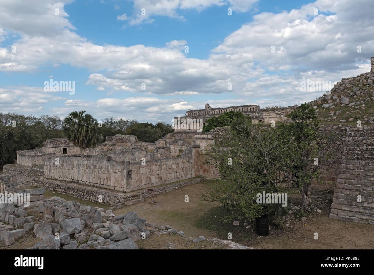 The ruins of the ancient Mayan city of Kabah, Yucatan, Mexico. - Stock Image
