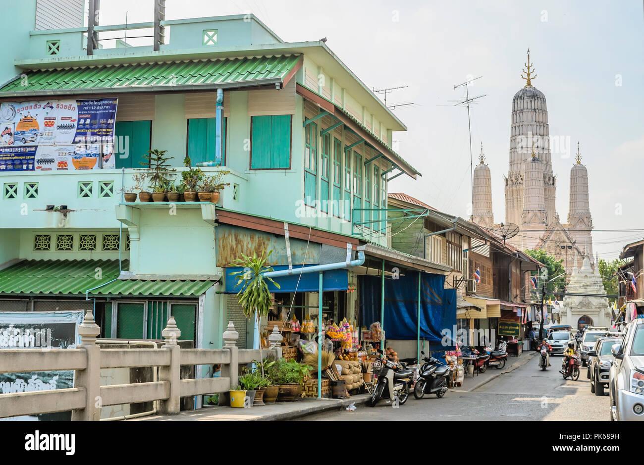 Historical Shophouses in Phetchaburi, Thailand | Historische Shophaeuser in Phetchaburi, Thailand - Stock Image