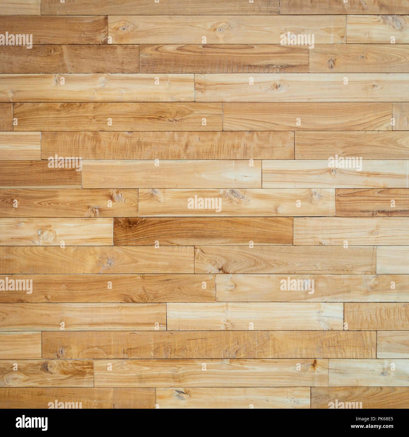 Parquet floor texture, square crop - Stock Image