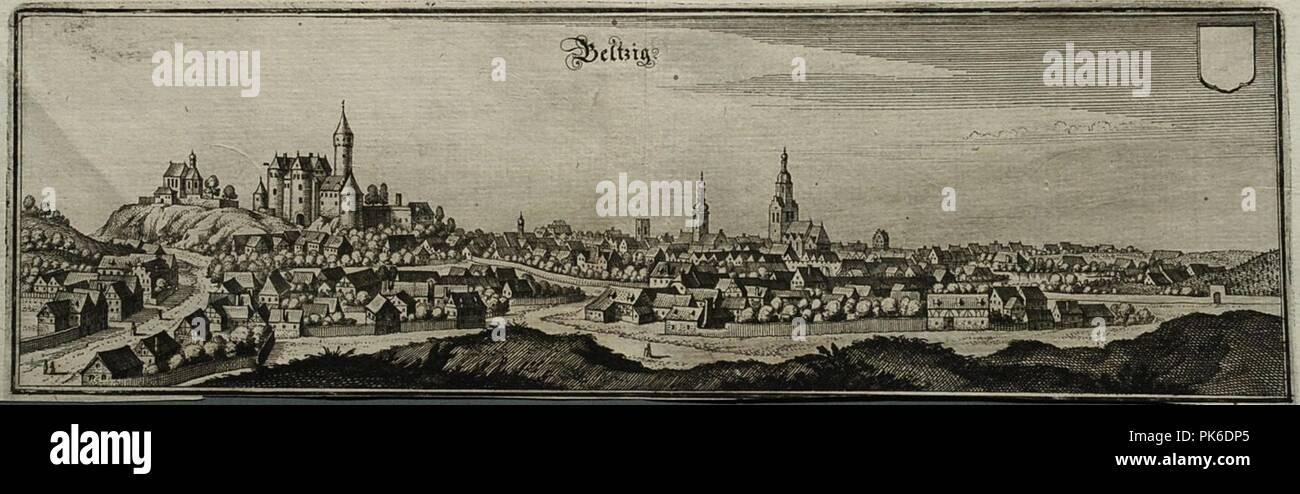 Belzig am flaeming 1650. - Stock Image