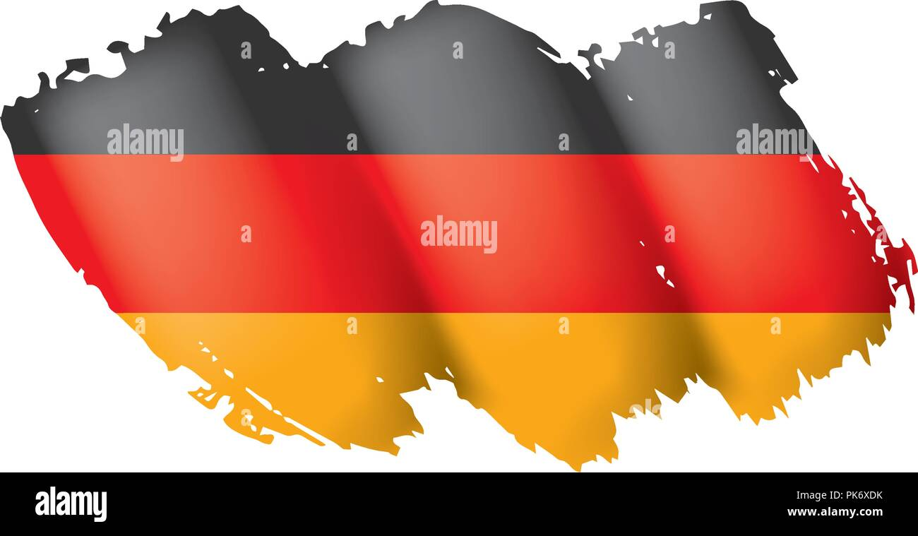 Germany flag, vector illustration on a white background - Stock Image
