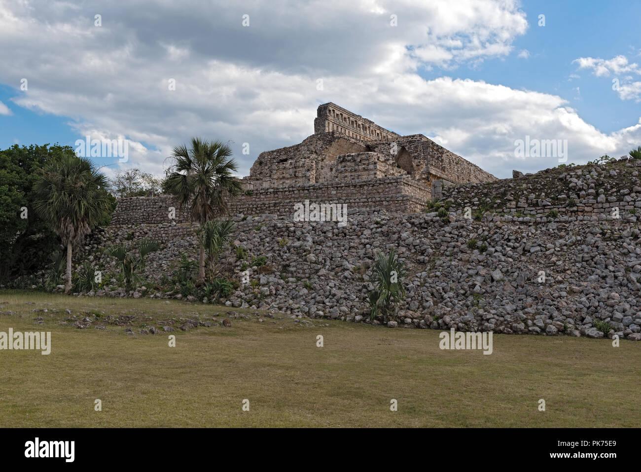 The ruins of the ancient Mayan city of Kabah, Yucatan, Mexico - Stock Image