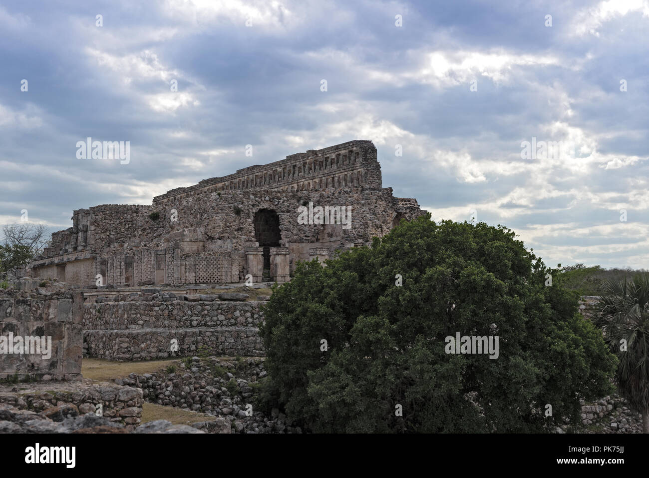The ruins of the ancient Mayan city of Kabah, Yucatan, Mexico. - Stock Image