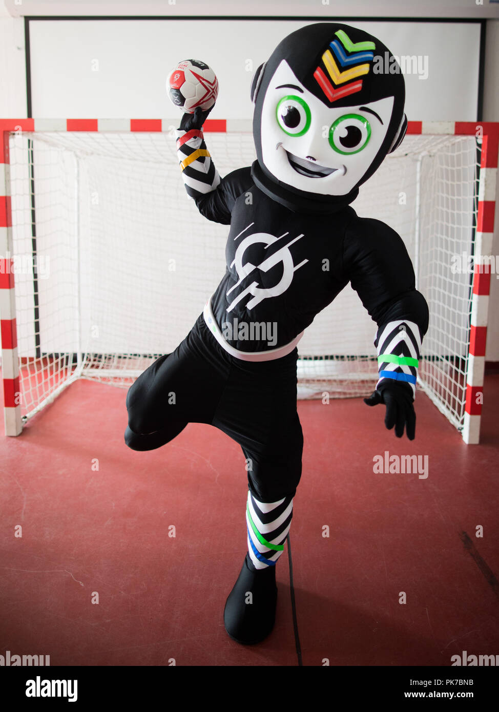 Official Mascot Handball World Championship Stock Photos