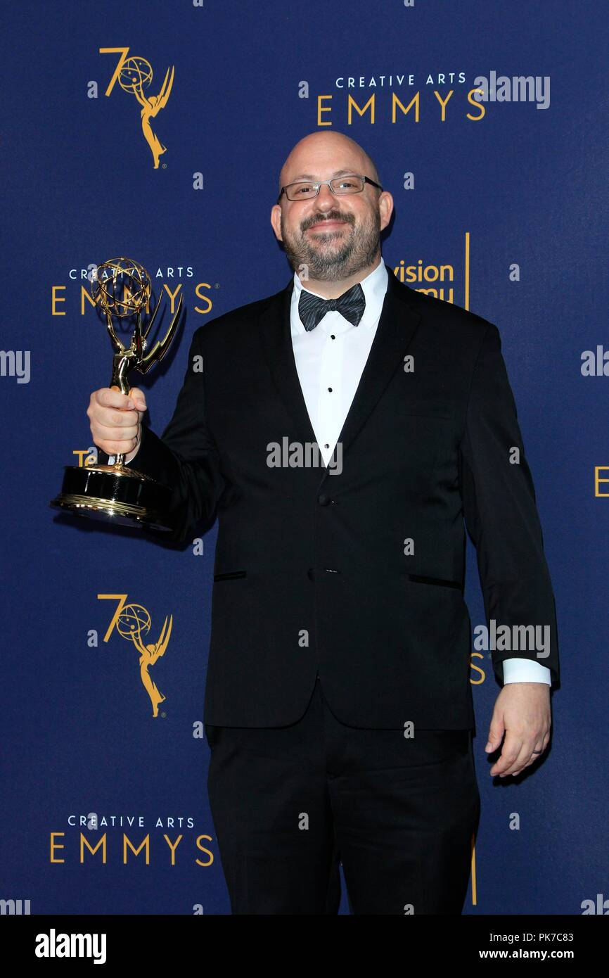 Los Angeles, CA, USA. 9th Sep, 2018. Bryan Eber in the press room for Primetime Emmy Awards: Creative Arts Awards - SUN PRESS ROOM, Microsoft Theater, Los Angeles, CA September 9, 2018. Credit: Priscilla Grant/Everett Collection/Alamy Live News - Stock Image