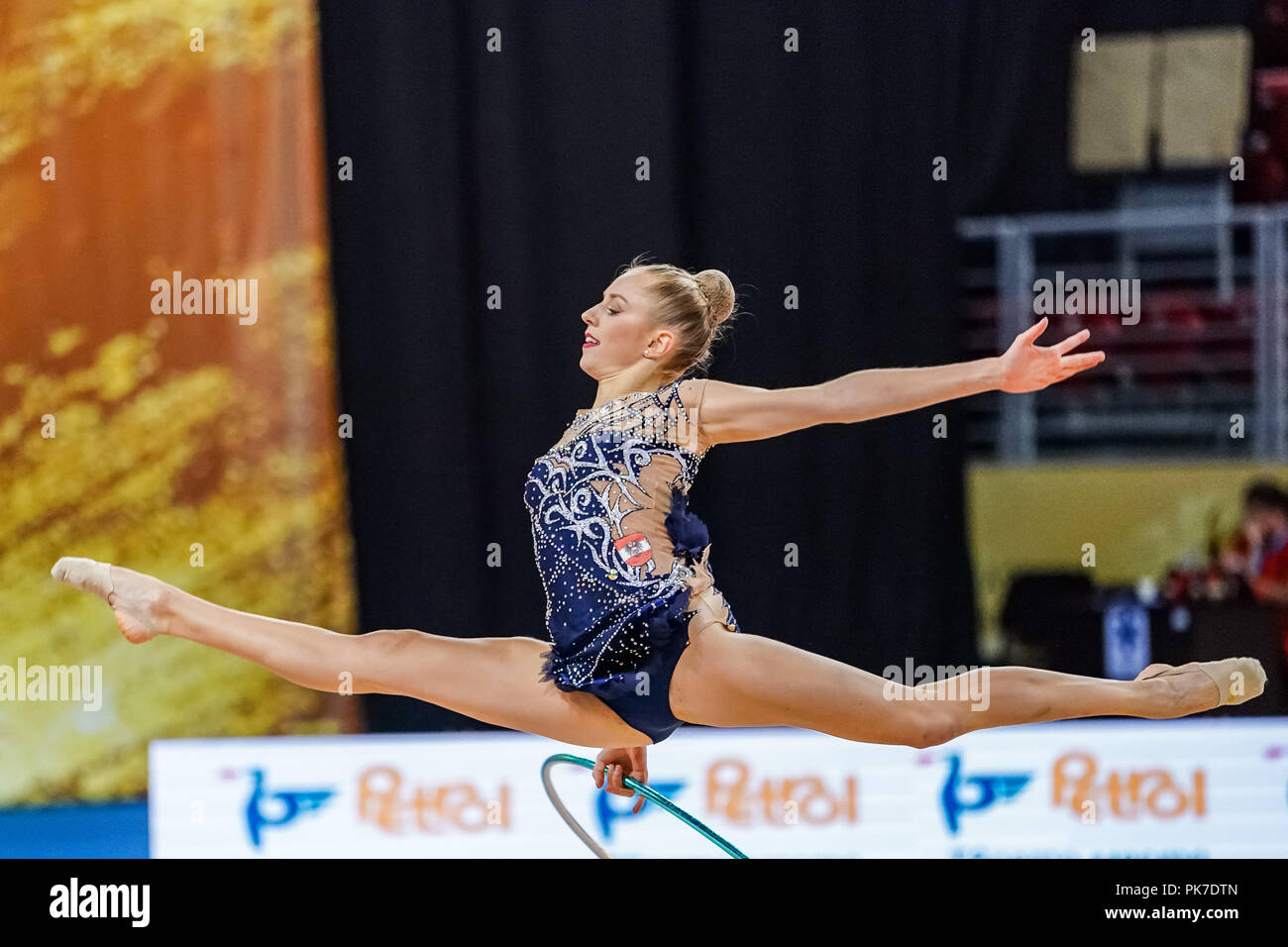 Sofia, Turkey. September 11, 2018: Julia Meder of  Austria during Rhythmic Gymnastics World Championships at the Arena Armeec in Sofia at the 36th FIG Rhythmic Gymnastics World Championships. Ulrik Pedersen/CSM - Stock Image