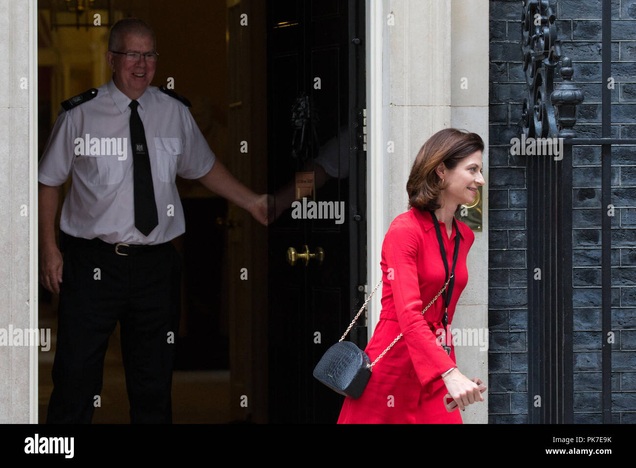 London, UK. 11th September, 2018. Seema Kennedy MP, Parliamentary Private Secretary to the Prime Minister, leaves 10 Downing Street following a Cabinet meeting. Credit: Mark Kerrison/Alamy Live News - Stock Image