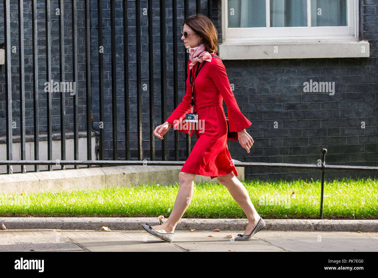 London, UK. 11th September, 2018. Seema Kennedy MP, Parliamentary Private Secretary to the Prime Minister, arrives at 10 Downing Street for a Cabinet meeting. Credit: Mark Kerrison/Alamy Live News - Stock Image