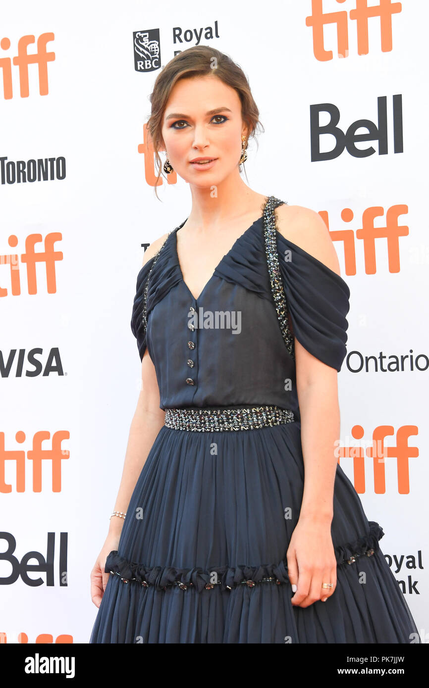 Toronto, Ontario, Canada. 11th Sep, 2018. KEIRA KNIGHTLEY attends 'Colette' premiere during the 2018 Toronto International Film Festival at Princess of Wales Theatre on September 11, 2018 in Toronto, Canada Credit: Igor Vidyashev/ZUMA Wire/Alamy Live News - Stock Image