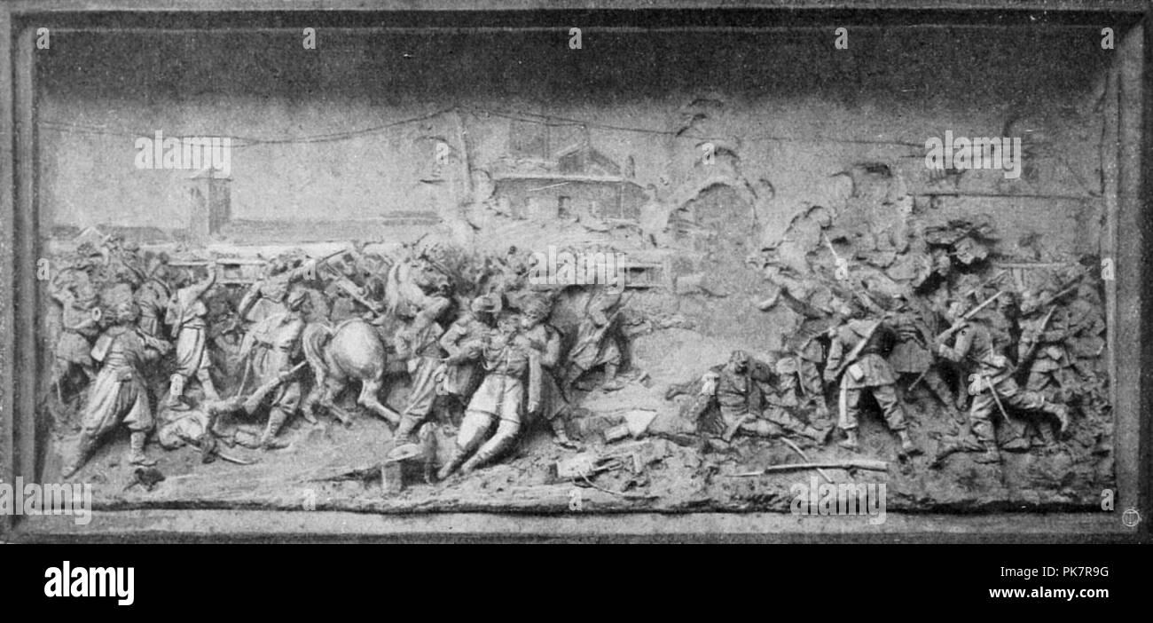 Bezzola - Battaglia di Magenta - Monumento di Napoleone III. - Stock Image