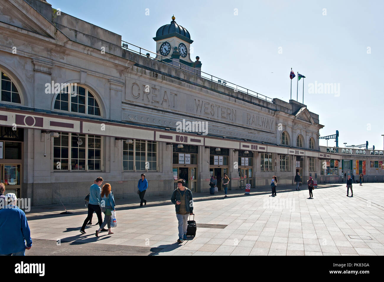 Cardiff Central Railway Station, Cardiff, Wales, UK Stock Photo