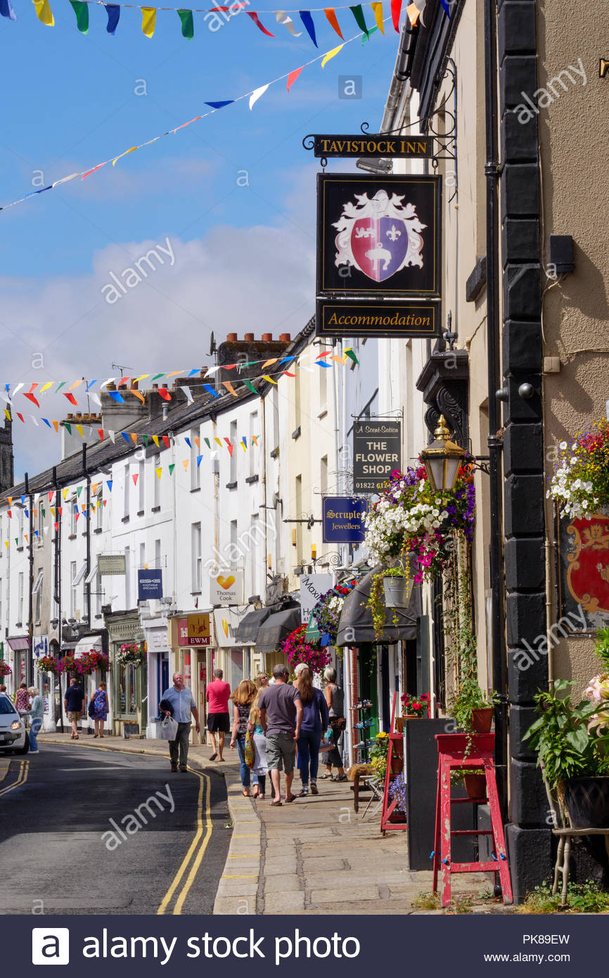 Tavistock Devon England - Stock Image